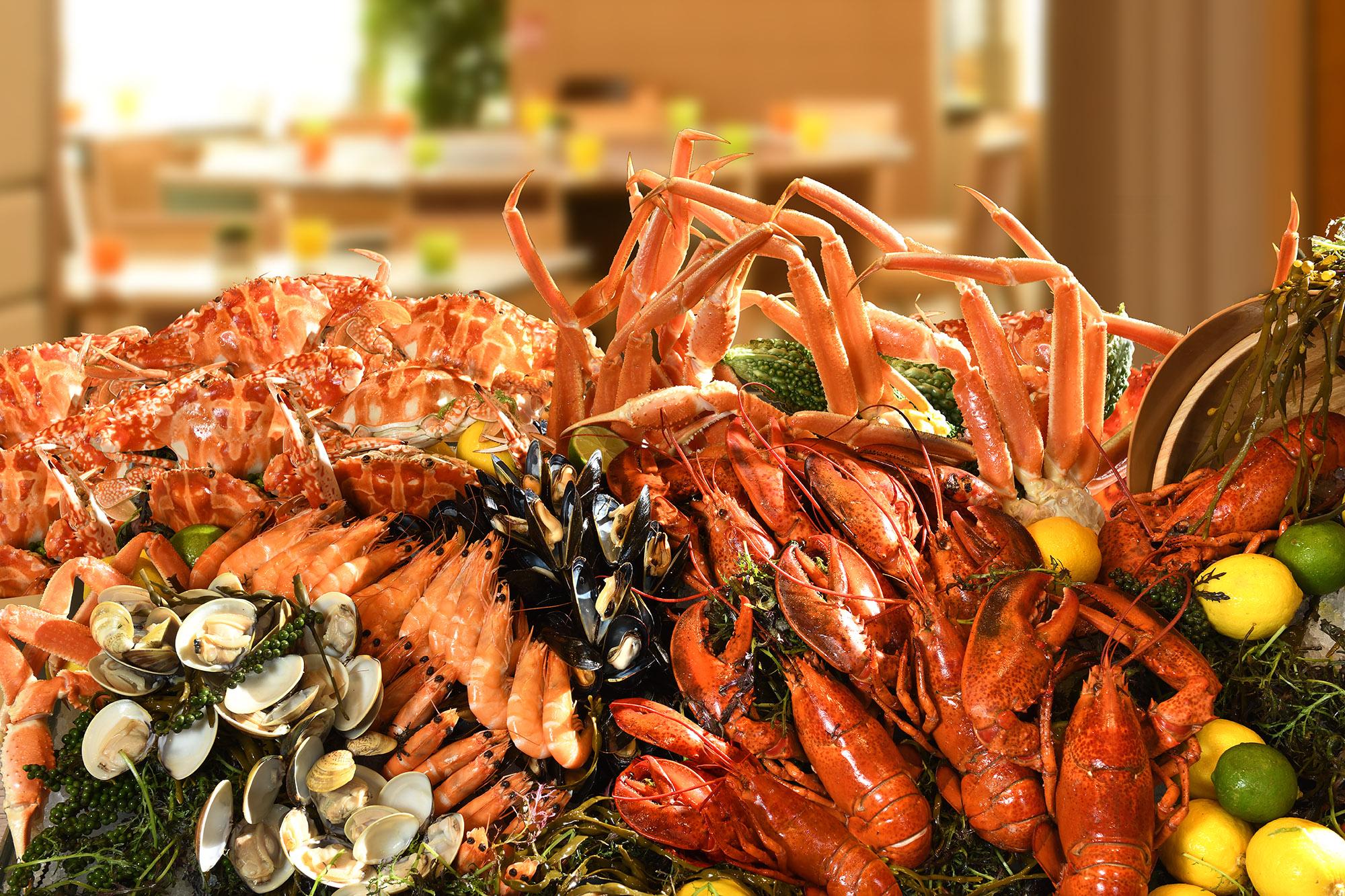 薈景海鮮自助晚餐波士頓龍蝦、雪場蟹腳、青口