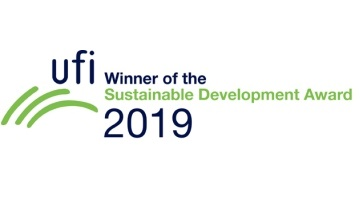 'Think Before Plastic' is a win-winLogo of UFI Sustainable Development Award 2019