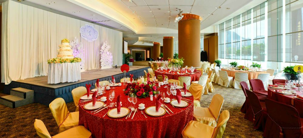 This is a banquet setting in Bauhinia Room