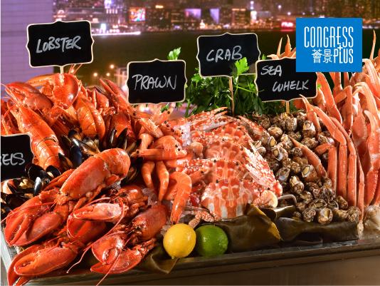 25% OFF ON INTERNATIONAL SEAFOOD DINNER BUFFET @CONGRESS PLUS