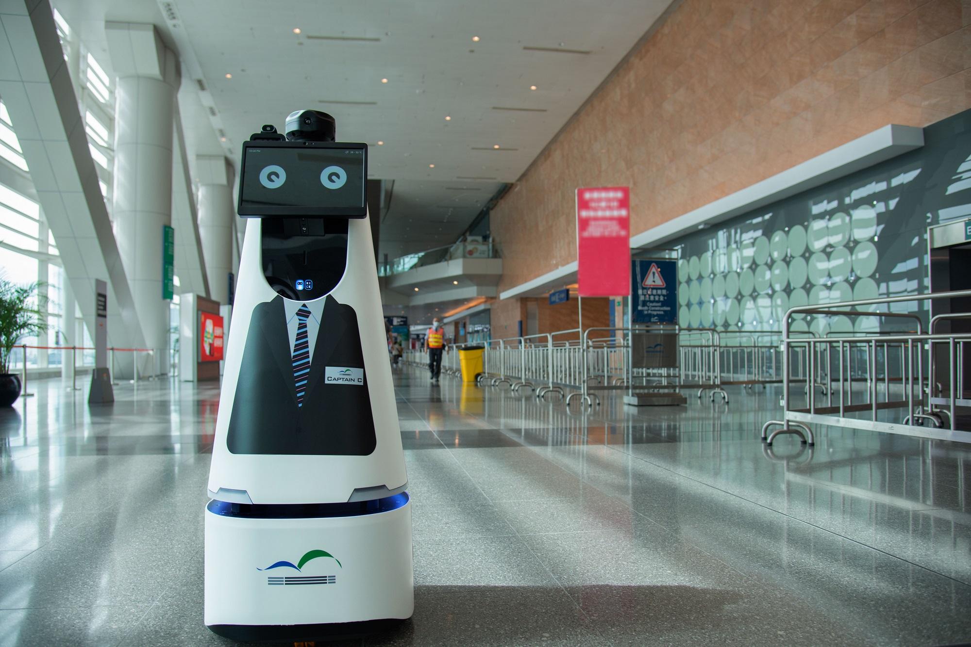 香港會議展覽中心全面覆蓋5G網絡 首度應用5G智能機械人當電腦節見習保安隊長 推動創科  提升營運效率