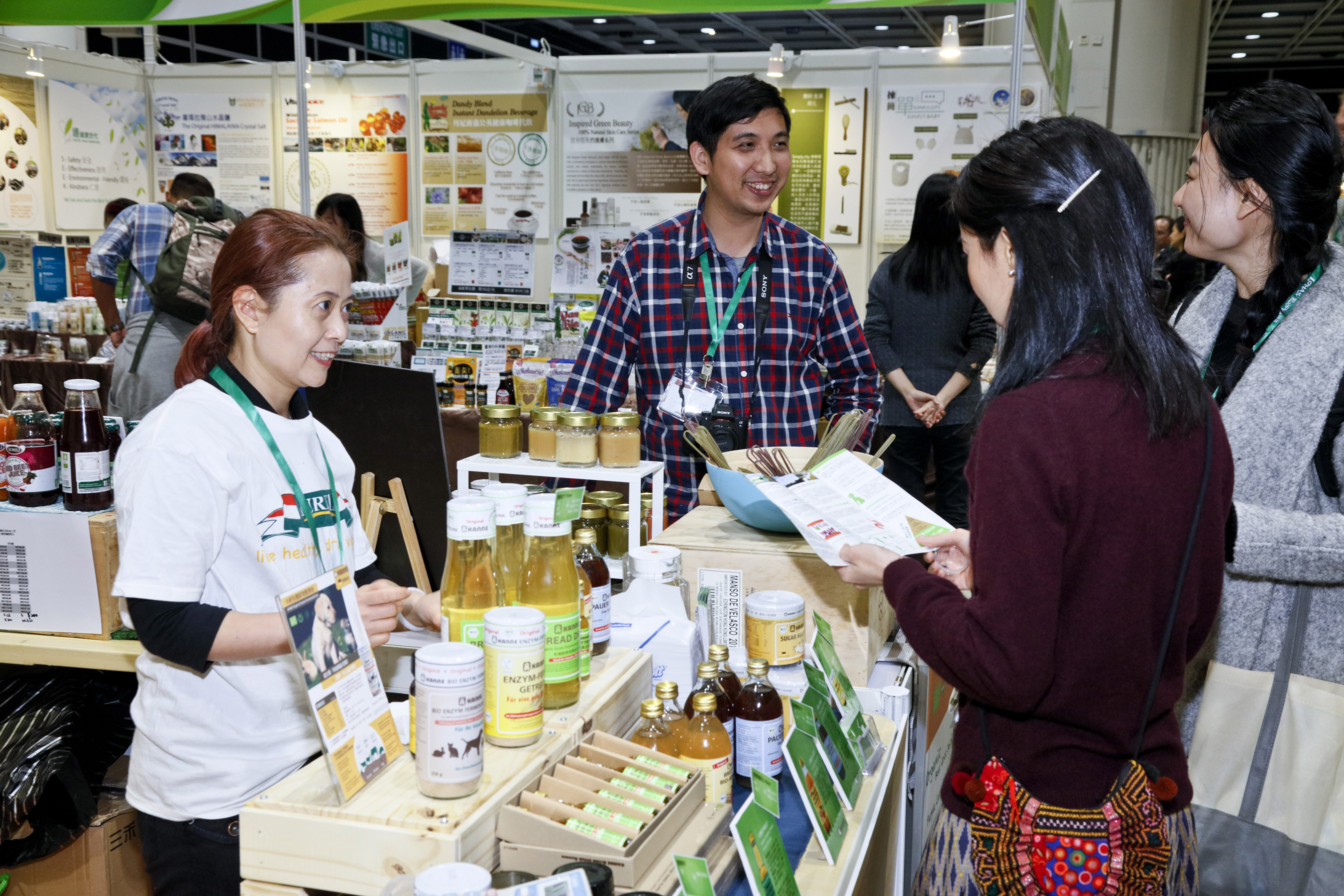 Exhibitors are introducing their natural and organic food to visitors